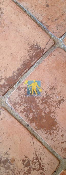 old terracotta tiles large old in need of restoration rustic